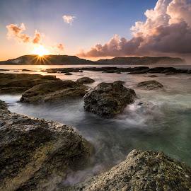 Morning Sunshine by Ruri Mabruri - Landscapes Beaches ( sunrise, beach, longexposure )