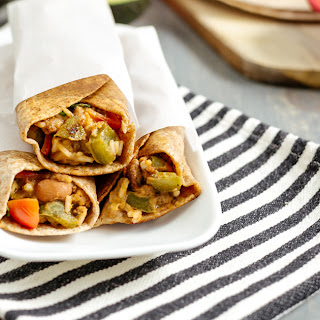 Whole Wheat Vegetable-Bean-Meat Burritos