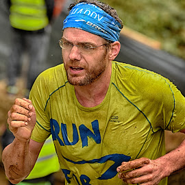 Run For Life by Marco Bertamé - Sports & Fitness Other Sports ( differdange, glasses, 2015, breard, glue, concentrated, yellow, run, running, luxembourg, strong, determined, strongmanrun, man )