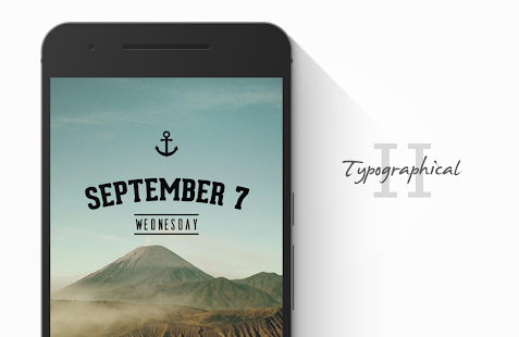 Typographical II Zooper Theme - screenshot