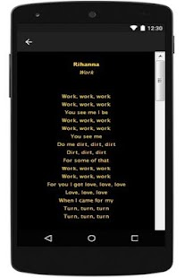 Rihanna New Lyrics - screenshot