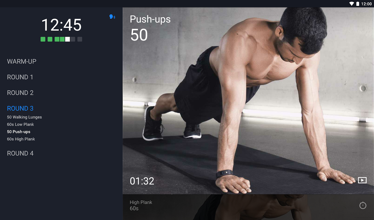 Runtastic Results Workout App Screenshot 5