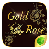 Gold Rose GO Keyboard Theme For PC (Windows And Mac)