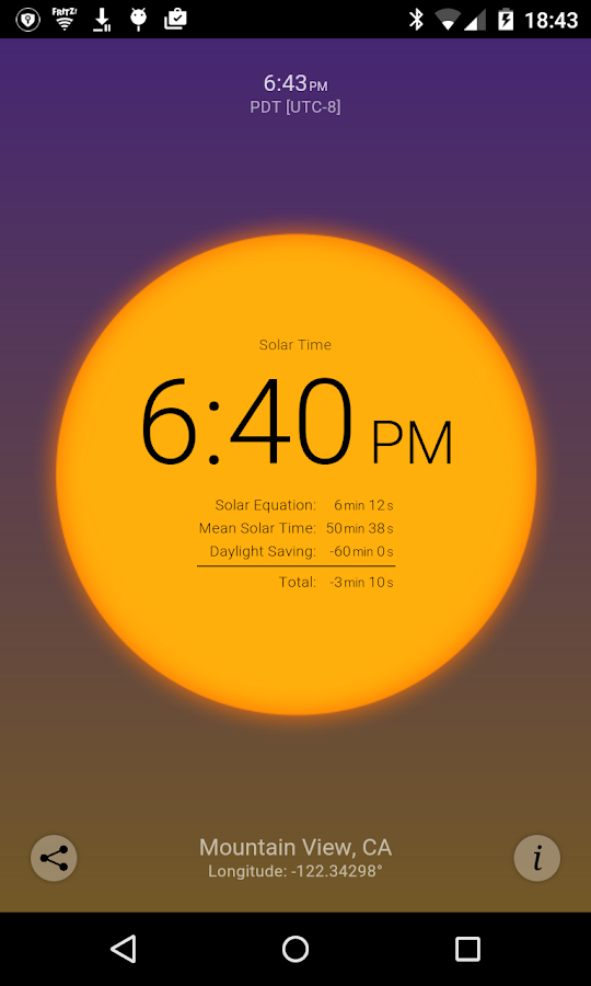 Solar Time Screenshot 1