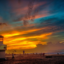 Riot of Colors!! by Jayanta Basu - Landscapes Sunsets & Sunrises ( sky, puri, colors, dramatic, india, beach, sunrise, travel photography,  )