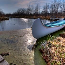 Canoë by Daniel Thomas - Transportation Boats ( hdr, canoe, lake, spring,  )