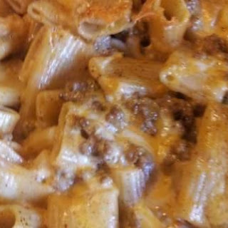 ZITI NOODLES AND TACO SAUCE