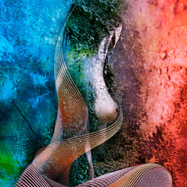 SOUL COLORS by Carmen Velcic - Digital Art People ( abstract, body, nude, color, woman, she, digital )