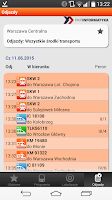 Screenshot of Bilkom - Train Timetable
