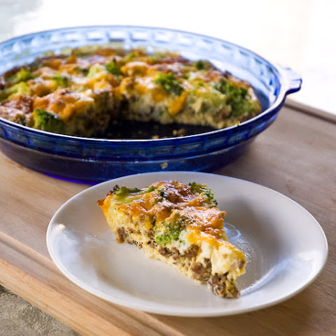 Sausage and Broccoli Breakfast Frittata