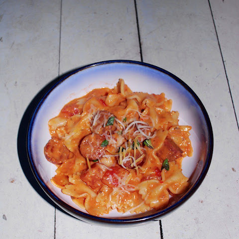 Spicy Sausage Pasta in Vodka Sauce