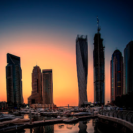 Marina View by Stanley P. - Buildings & Architecture Office Buildings & Hotels ( dubai, buildings, marina )