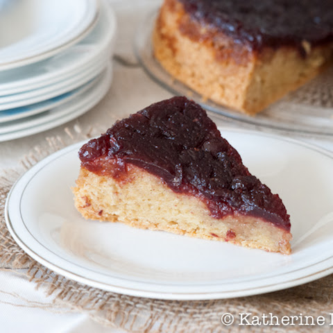 Cranberry Sauce Upside Down Cake and a Thanksgiving Leftovers Blog Hop