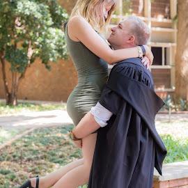 by Christopher van Heerden - People Couples ( looking, standing, graduation, couples )