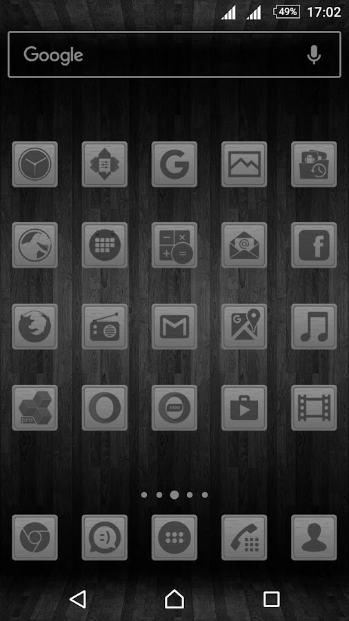 Wooden Icons Gray Screenshot