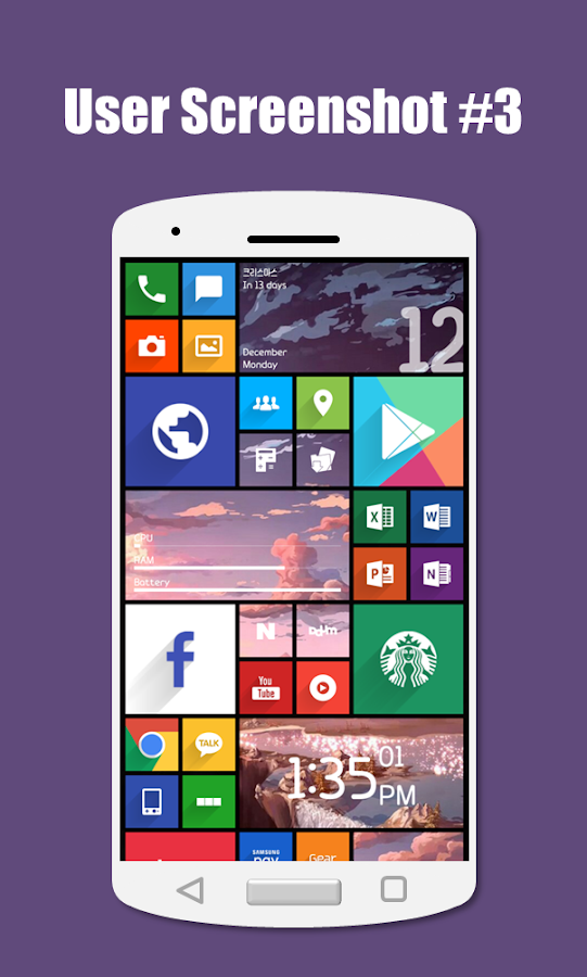 SquareHome 2 - Launcher: Windows style Screenshot 7
