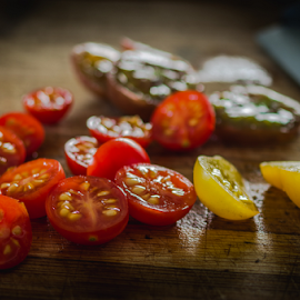 Cherry tomatoes by Marius Radu - Food & Drink Fruits & Vegetables ( red, cherry, fruits, yellow, tomato, summer )