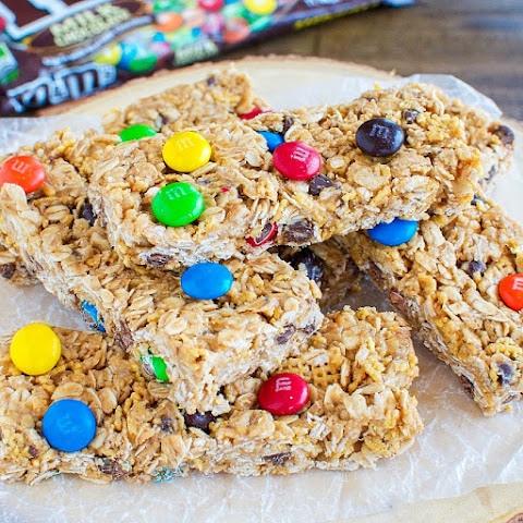 Chewy No Bake M&M's Granola Bars