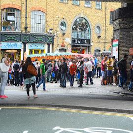 camden by Kathleen Devai - City,  Street & Park  Street Scenes ( colour, market, london, street, people )