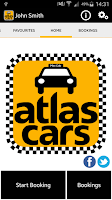 Screenshot of Atlas Cars London Taxi MiniCab