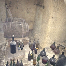 Wine cellar  by Ginny Serio - Instagram & Mobile iPhone ( #olderthendirt )