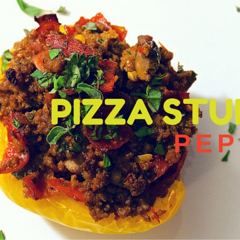 Paleo Pizza-Stuffed Peppers