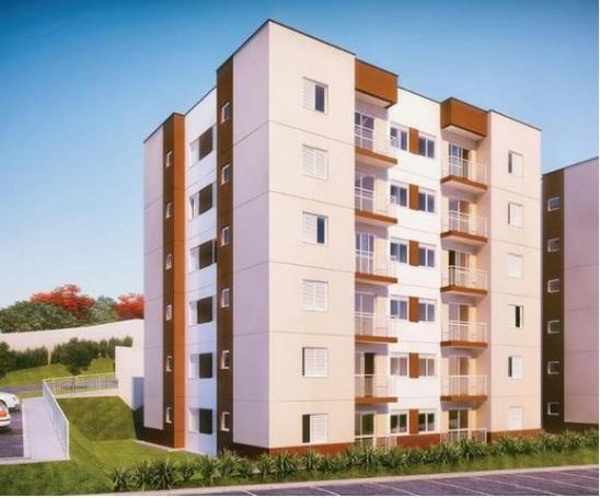 Apartamento com 2 dormitórios para alugar, 48 m² por R$ 1.100/mês - Bairro Do Uberaba - Bragança Paulista/SP