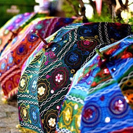 Colourful Umbrellas by Sudhakar Kumar - Artistic Objects Other Objects ( color, colors, umbrella, india, rain,  )