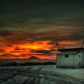 The Greek  North Pole Kozani Kardia minefield  07:00 pm -17c by Gregory Dallis - Landscapes Sunsets & Sunrises