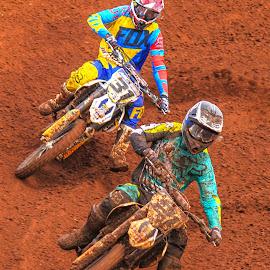 Motocross Action by Dirk Luus - Sports & Fitness Motorsports ( mud, motorbike, motocross, motorcycle, dirt, motorsport )
