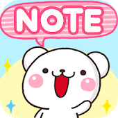 Free Sticky Notes White Bear APK for Windows 8