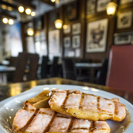 Pork by Varok Saurfang - Food & Drink Plated Food ( grill, food, pork, plated food, restaurant )