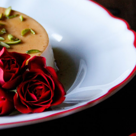 Flan With Rose Syrup