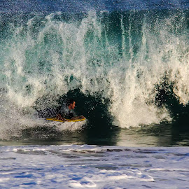 Tube by Robyn Gael Ellsworth - Sports & Fitness Surfing ( water, surfing, waves, beach, athlete )