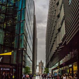 Heading for the Tower Bridge by Sakari Partio - City,  Street & Park  Street Scenes