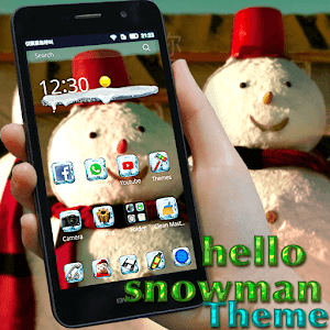 hello snowman theme ice icons for Android