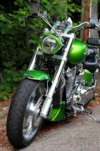 Green Machine by Freda Nichols - Transportation Motorcycles ( harley, bike, green, motorcycle, parked,  )