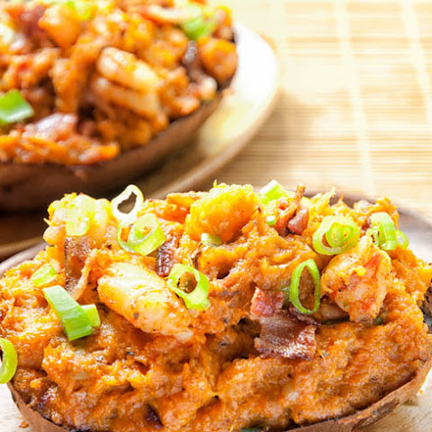 Bacon-Shrimp Stuffed Sweet Potatoes Recipe
