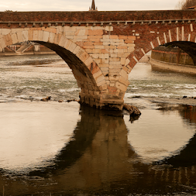 Detail of roman bridge by Giancarlo Ferraro - Buildings & Architecture Bridges & Suspended Structures ( water, old, bridge,  )