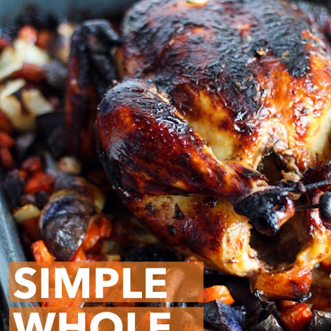 Simple Whole Roasted Chicken