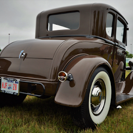 Brown and around by Benito Flores Jr - Transportation Automobiles ( white wall, car, austin, texas, car show, brown )