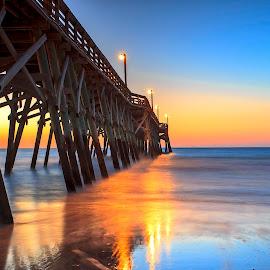 Surfside Pier by Carol Plummer - Buildings & Architecture Bridges & Suspended Structures