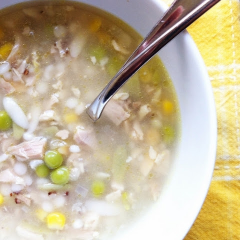 Turkey and Orzo Soup with Lemon