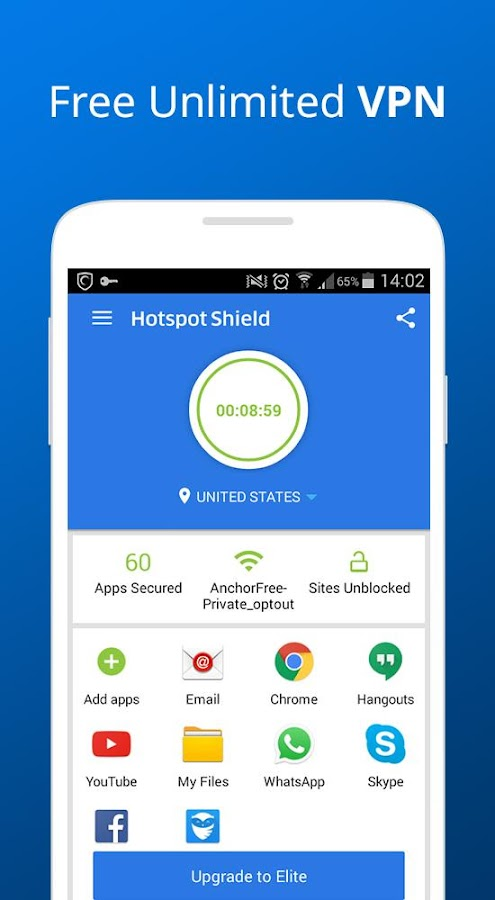 Hotspot Shield Free VPN Proxy Screenshot 0