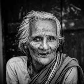 Lonliness by Masud Khan - Black & White Portraits & People
