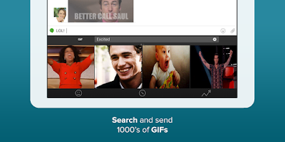Screenshot of Fleksy + GIF Keyboard Free