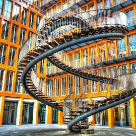 Endless Stairs by Lukas Proszowski - Buildings & Architecture Architectural Detail ( munich, stairs, art, street, münchen, germany, city )