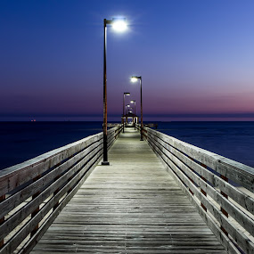 Transition  by Shutter Bay Photography - Landscapes Waterscapes ( night photography, sunsets, pier, beach, night falling,  )
