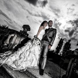 Erika e Steven by Mauro Locatelli - Wedding Bride & Groom ( sky, wedding, bride, groom )