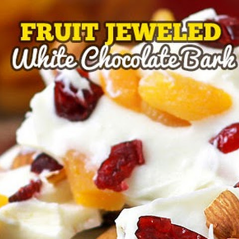 Fruit Jeweled White Chocolate Candy Bark